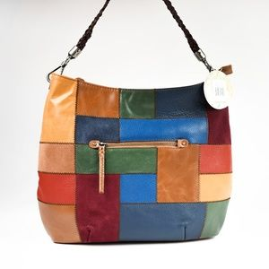 The Sak Indio Shoulder Bag Multi-Color Patch Boho